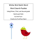 Winter Bird Dolch Word Search Puzzles
