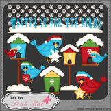 Winter Birds 1 - Art by Leah Rae Clip Art & Line Art / Dig