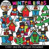 Winter Birds Clipart {Winter Clipart}