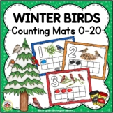 Winter Birds Counting Mats 0-20