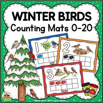 Winter Birds Counting Mats 0-20