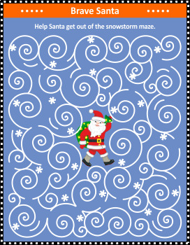 Winter Blizzard Maze Game with Santa, Commercial Use Allowed
