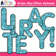 Winter Blue Glitter Alphabet Clip Art {Great for Classroom