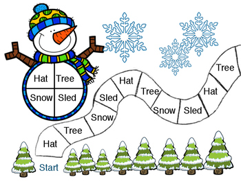 Winter Board Game with Sight Words