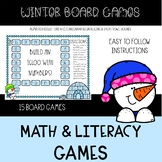 Winter Board Games {Number & Letter Recognition, Letter Sounds}