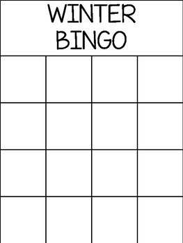 Winter - Boardmaker Bingo