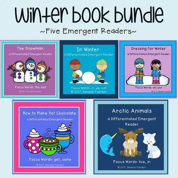 Winter Book Bundle: Five Emergent Readers with Differentiated Word Work