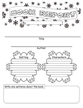 Winter Book Report