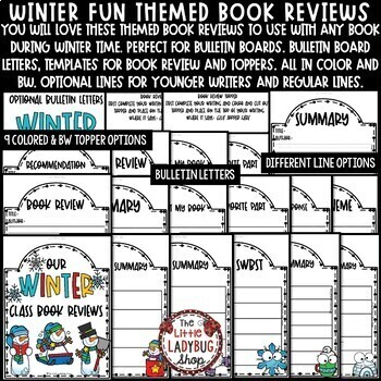 Winter Book Review Templates & Winter Bulletin Board, Book Report Templates