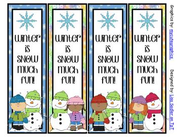 Winter Bookmarks - 4 Designs