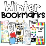 Winter Bookmarks New Year's bookmarks 100th Day Six Designs in Color and B&W