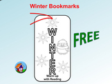 FREE Winter Bookmarks (To Color)