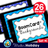 Winter Boom Card™ Background Borders (Clipart) Set #1