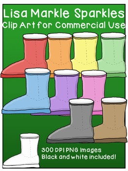 Winter Boot Clip Art for Commercial Use