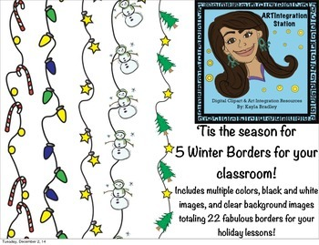Winter Borders and Frames!