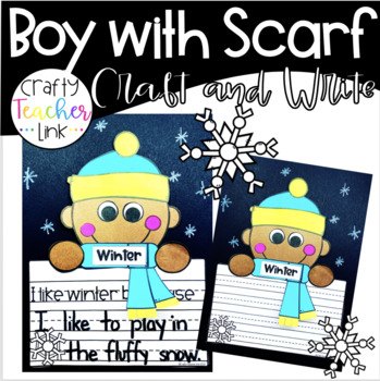 Winter Boy and Girl With Scarf Craft and Write