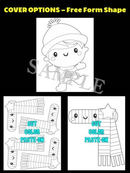 Winter Boy with Scarf -  Moonju Makers Activity, Craft, Writing, Winter