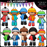 Winter Boys Clip Art - Winter Kids Clip Art