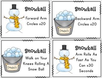 Brain Breaks - Winter Themed Cards