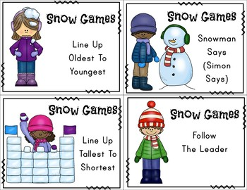 Winter Brain Break Cards