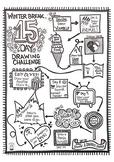 Winter Break 15 Day Drawing Challenge