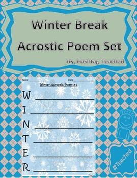 Differentiated Winter Break Acrostic Poem Activity Set