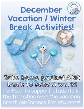December Vacation / Winter Break Activities!