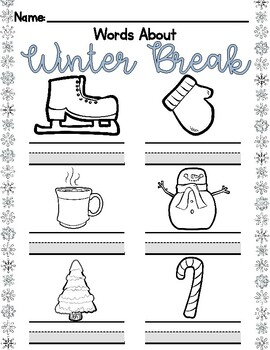Winter Break: Adapted Handwriting Packet