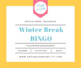 Winter Break Bingo - Ice Breaker Activity