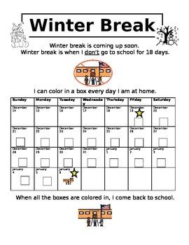 Winter Break Calendar