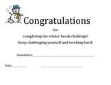 Winter Break Certificate
