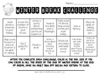 Winter Break Challenge (2 Weeks)