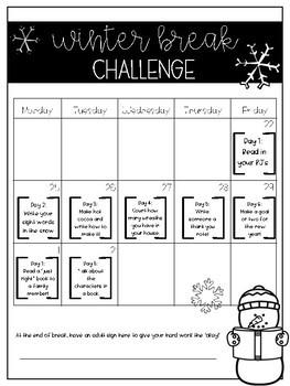 Winter Break Challenge