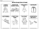 Winter Break Find a Friend activity