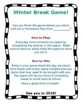 Winter Break Game