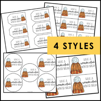 Winter Break Gift Tags | Holiday Gift Tags | Student Gift Tags