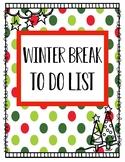 "Winter Break ""Homework"""
