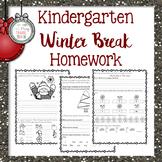 Kindergarten Winter Break Homework