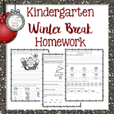 Kindergarten Winter Break Homework