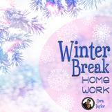 Winter Break Homework ~ Activities for Vacation