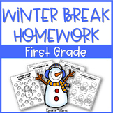 Winter Break Packet First Grade