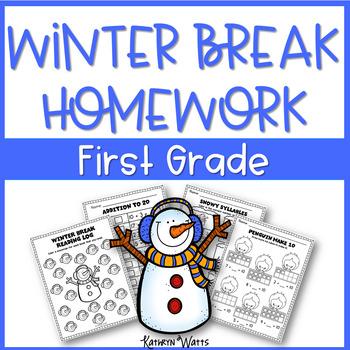 Winter Break Homework First Grade