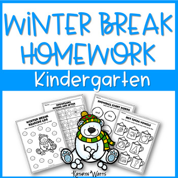 Winter Break Packet Kindergarten
