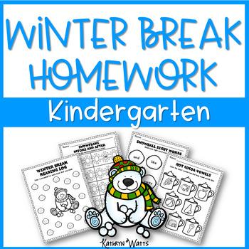 Winter Break Homework Kindergarten