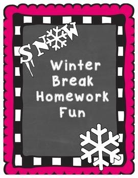Winter Break Homework Pack