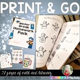 Winter Break Homework Pack {PRINT AND GO}