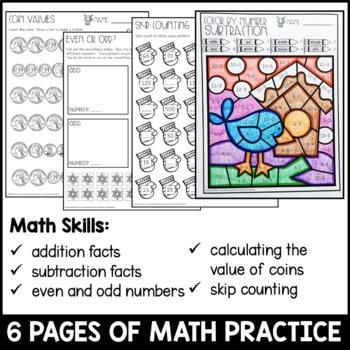 Winter Break Homework Packet 2nd Grade