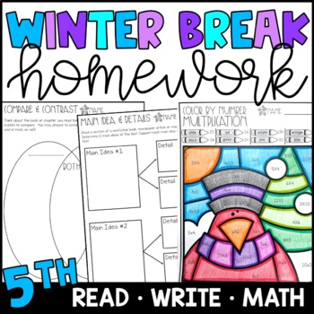 winter break homework packet 5th grade by amanda garcia tpt. Black Bedroom Furniture Sets. Home Design Ideas