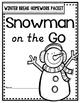 Winter Break Homework Packet: Snowman on the Go