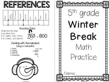 Winter Break Math for 5th grade
